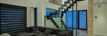 Escalier de verre pour résidence