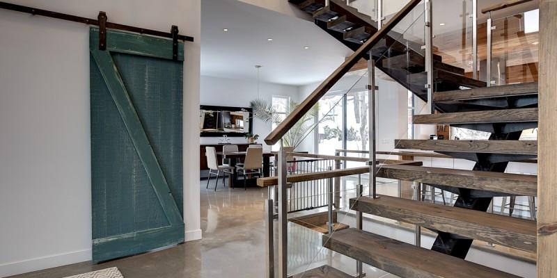 escalier interieur style industriel